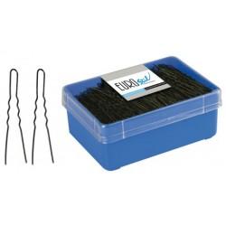 caja 400 horquillas invisibles negras