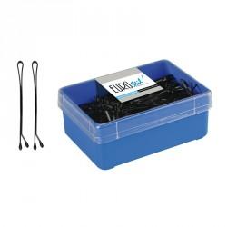 caja 300 clips bola negras