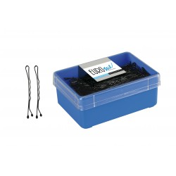 caja 300 clips negro