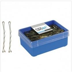 caja 150 clips largo bronce