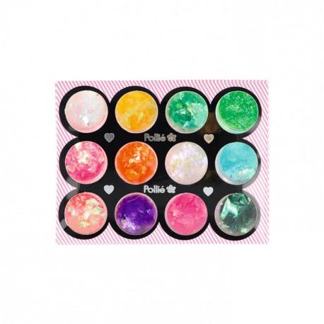 Glitter para nail art escama sirena colores